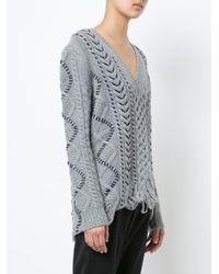 Gabriela Hearst - Gray V-neck Sweater - Lyst