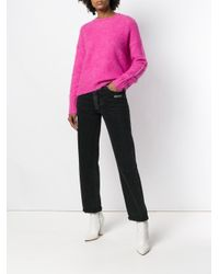 Helmut Lang - Pink Brushed Wool Crew Knit - Lyst