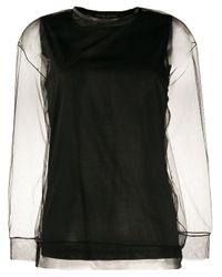 Fabiana Filippi シアーロングtシャツ Black