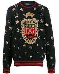メンズ Dolce & Gabbana Dg Star プルオーバー Black