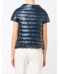 Herno Blue Short Sleeve Padded Jacket