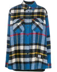 we11done オーバーサイズ チェックシャツ Blue