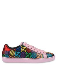 Gucci Pink GG Psychedelic Ace Sneakers