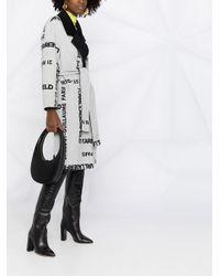 Двустороннее Пальто С Логотипом Karl Lagerfeld, цвет: Gray