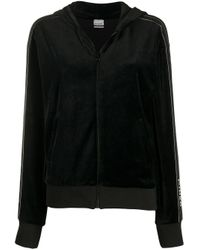 Chaqueta de terciopelo con capucha Pinko de color Black