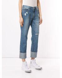 SJYP Heart Washing Jeans Blue
