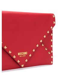 Pochette Teddy Bear Moschino en coloris Red