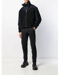 メンズ GmbH バイカラージャケット Black