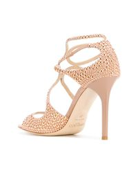 Jimmy Choo - Natural Lang Sandals - Lyst