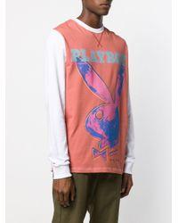 メンズ Soulland Bunny プリント Tシャツ White