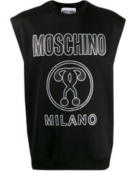 Felpa smanicata di Moschino in Black da Uomo