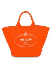 Prada カナパ キャンバストートバッグ Orange