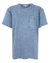 T-shirt à poche poitrine Stella McCartney en coloris Blue