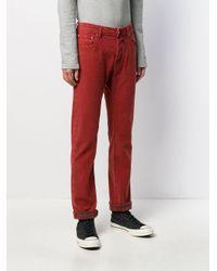 Jean droit classique Jacob Cohen pour homme en coloris Red