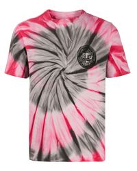T-shirt con fantasia tie dye di Paura in Pink da Uomo