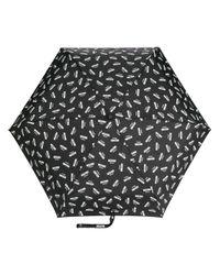 Moschino - Black Logo Printed Umbrella - Lyst
