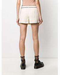 Shorts con bordi a contrasto di RED Valentino in Multicolor