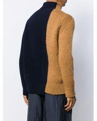 Sacai Pullover in Colour-Block-Optik in Multicolor für Herren