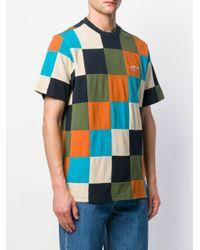 T-shirt con design patchwork di Supreme in Blue da Uomo