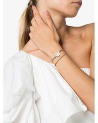 Carolina Bucci Silver Metallic Virtue Charm Yellow And White Gold Lucky Bracelet
