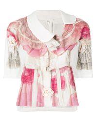Blusa con ruches di Comme des Garçons in Pink