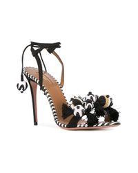 Aquazzura - Black 'tropicana' Sandals - Lyst