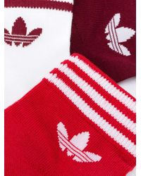 Adidas ロゴ 靴下 セット Red