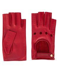 Mitaines à détails perforés Gucci en coloris Red