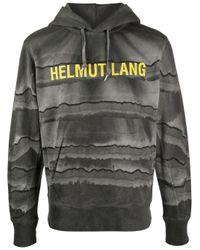 メンズ Helmut Lang ロゴ パーカー Gray