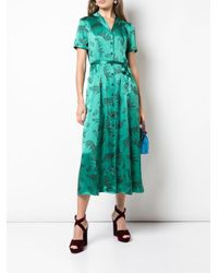 HVN レオパード シャツドレス Green