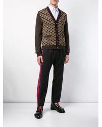 Chemise rayée Gucci pour homme en coloris White