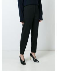Jil Sander Black Wool-felt Wide-leg Pants