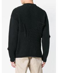 Pull oversize en maille OAMC pour homme en coloris Black