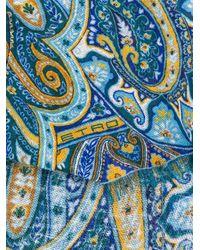 メンズ Etro ペイズリー スカーフ Blue