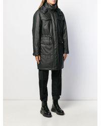 Parka à capuche Karl Lagerfeld en coloris Black
