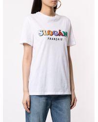 Être Cécile White Slogan Francais T-shirt