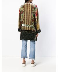 Pierre Louis Mascia - Multicolor Embroidered Belted Coat - Lyst