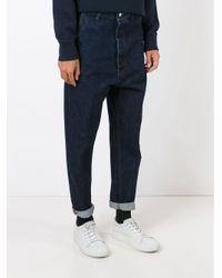 Moncler - Blue Drop Crotch Jeans for Men - Lyst