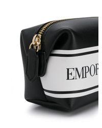 Emporio Armani ロゴ コスメポーチ Black