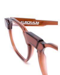 Kuboraum ラウンド眼鏡フレーム Brown