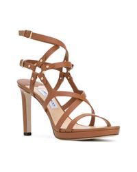 Jimmy Choo - Brown 'monica' Sandals - Lyst