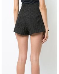 C/meo Collective Black High-waisted Shorts