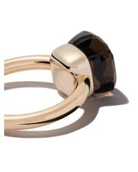 Pomellato - Metallic 18kt Rose & White Gold Nudo Smoky Quartz Ring - Lyst