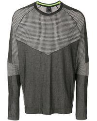 Nike Black Panelled Long Sleeve T-shirt for men