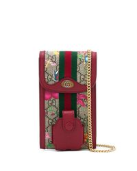 Клатч С Узором Flora И Цепочкой Gucci, цвет: Red