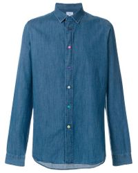 PS by Paul Smith Blue Slim Fit Shirt for men