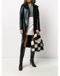 Stand Studio Black Shopper aus Faux Fur