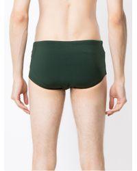 Osklen Green Side Stripes Swimming Trunks for men