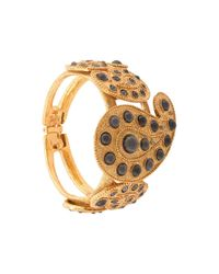 Oscar de la Renta Metallic Taj Cuff Bracelet