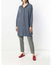 Fabiana Filippi Blue Boxy Zipped Cardi-coat
